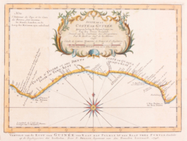 Kaart kust Guinée.