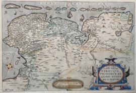 Kaart Friesland en Groningen