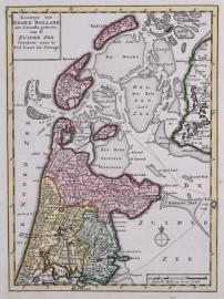 Kaartje van Noord Holland