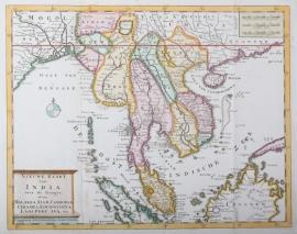 Kaart Maleisië, Cambodja, Thailand, Indonesië, Vietnam
