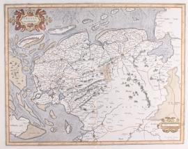 Kaart Friesland.