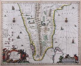 Map op India.
