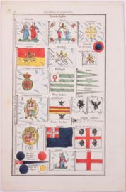 Vlaggenkaart Portugal, Italië.