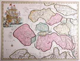 Kaart Zeeland.