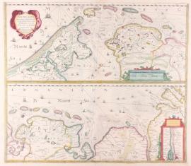 Zeekaart Waddeneilanden en Zuider Zee.