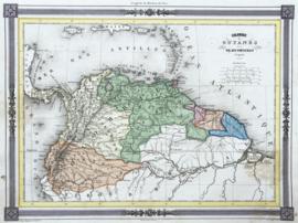 Kaart noordelijk deel Zuid-Amerika