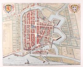 Town plan of Schoonhoven.