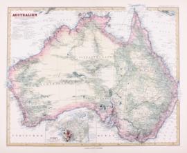 Kaart Australië.