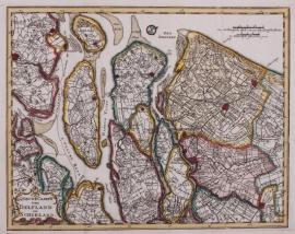 Kaartje Delftland/ Schieland