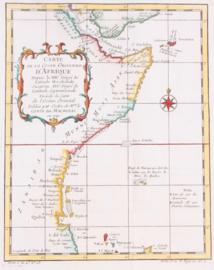 Kaart Oost Afrika.