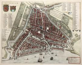 Stadsplattegrond van Rotterdam.