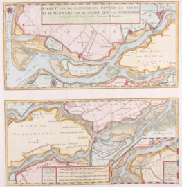 Kaart loop Maas en Merwede.