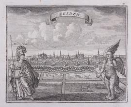 Panorama van Leiden.