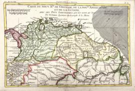 Kaart Noordelijk deel Zuid-Amerika.