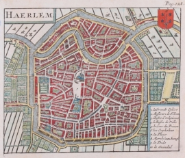 Town plan of Haarlem.