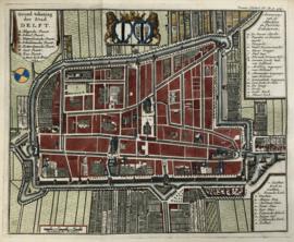 Plattegrond van Delft