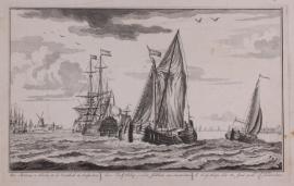 Turfschip en VOC schip.