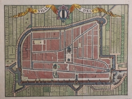 Town plan of Delft.