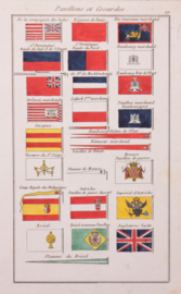 Vlaggenkaartje Duitsland Engeland, Vaticaan enz...