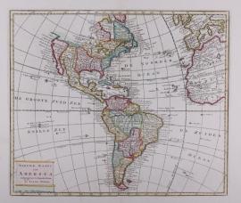 Kaart Noord- en Zuid Amerika