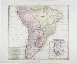 Kaart Zuid- Amerika