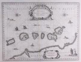 Zeekaart Molukken.