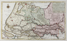 Kaart rivieren Zuid-Holland en Gelderland