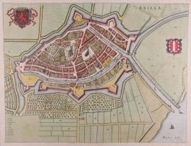 Town plan of Brielle