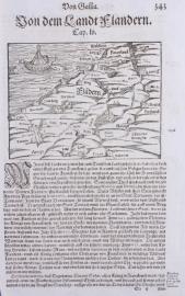 Kaart België (Vlaanderen).