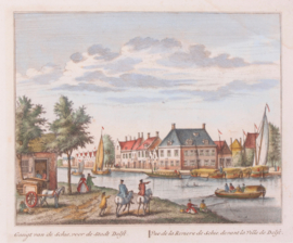 Town view of Delft.