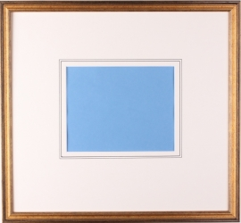Framing category C (Gold colored framing with two support lines on the passe partout).