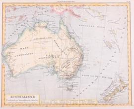 Kaart Austalië en Nieuw- Zeeland