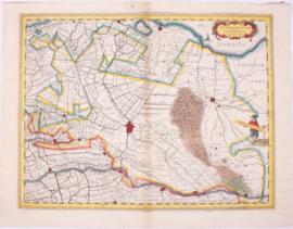 Kaart provincie Utrecht.
