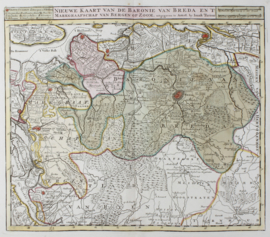 Kaart Brabant