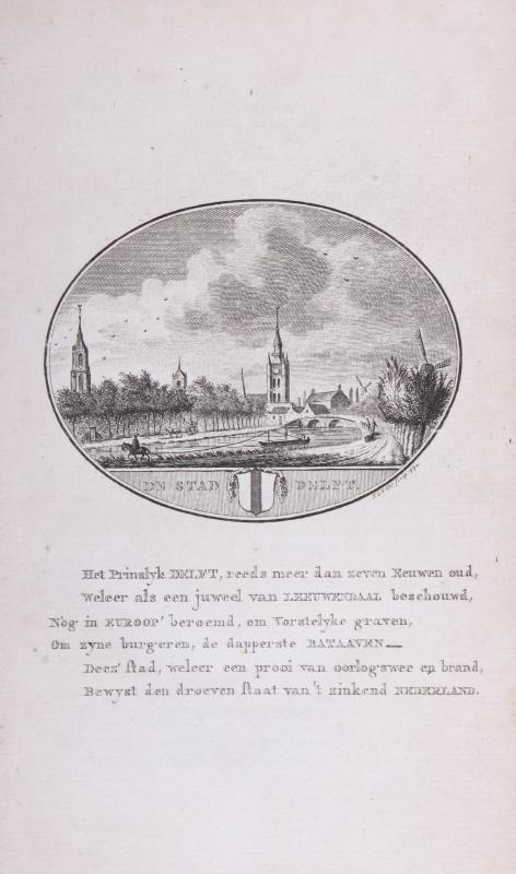 Stadsgezicht van Delft