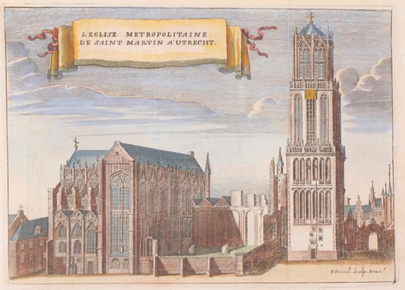 Gezicht op Dom Utrecht.