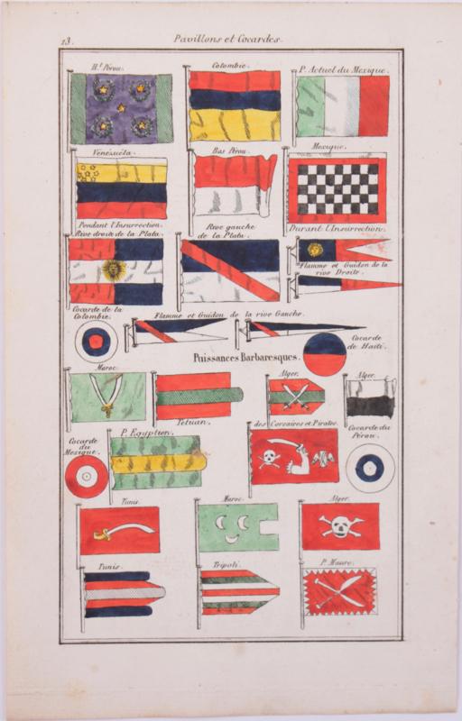 Vlaggenkaartje Mexico, Venuzuela, Egypte, Turnesie enz..