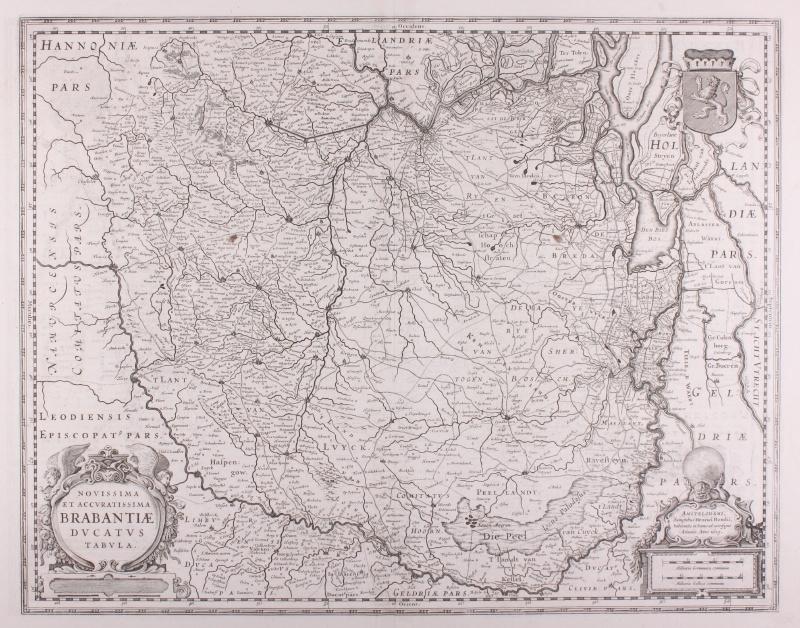 Map of Brabant.