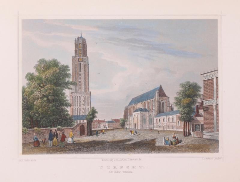 Stadsgezicht van Utrecht.