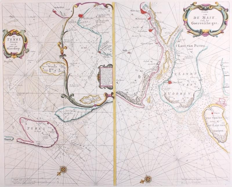 Zeekaart aanloop Maas.