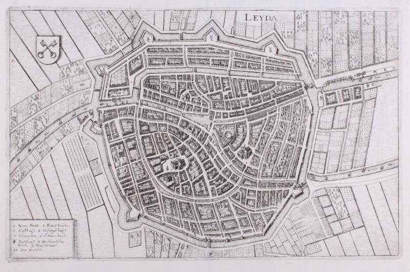 Stadsplattegrond Leiden.