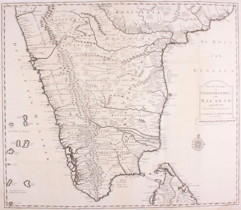 Kaart India.