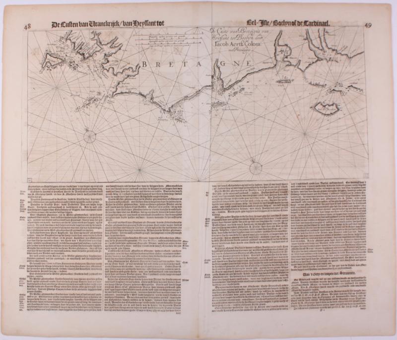 Zeekaart Zuid-Portugal en Spanje.