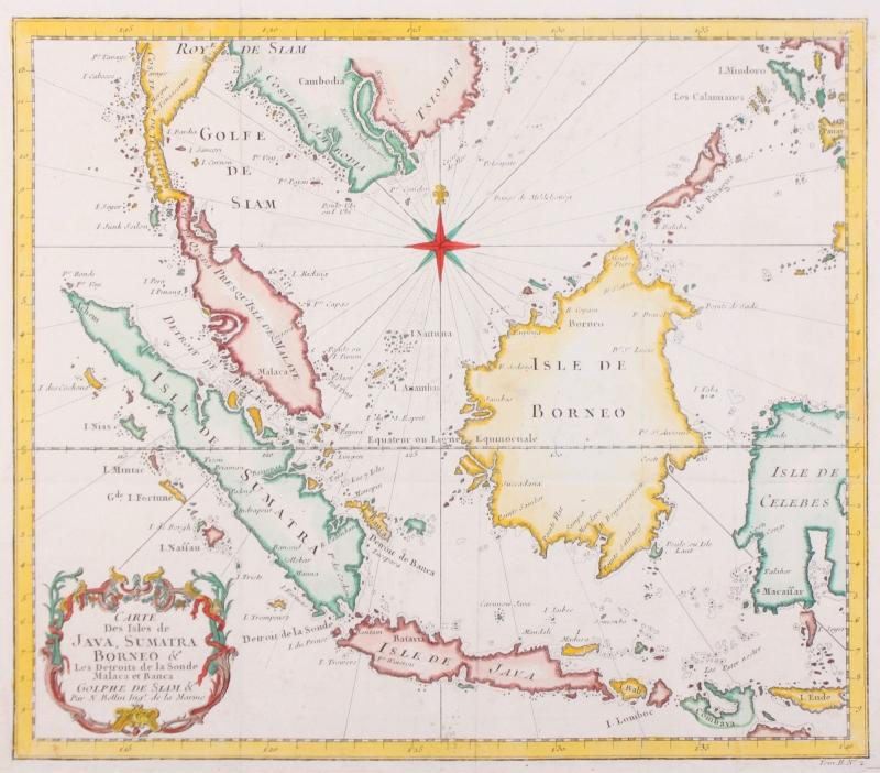 Kaart Indonesië.
