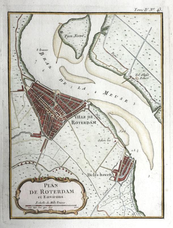 Plattegrond Rotterdam en Delfshaven.