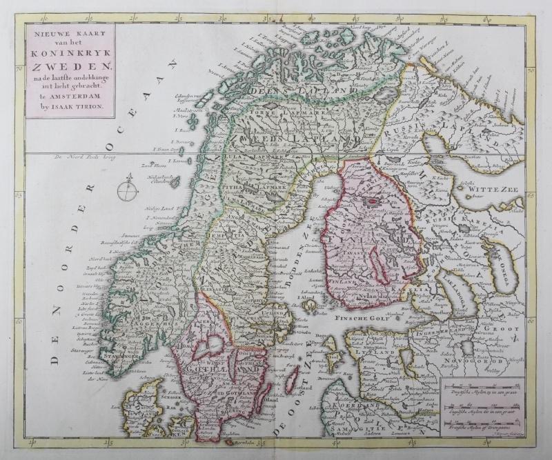 Kaart Scandinavië