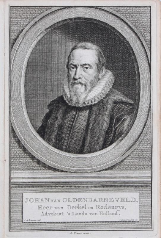 Portret van Johan van Oldenbarneveld.