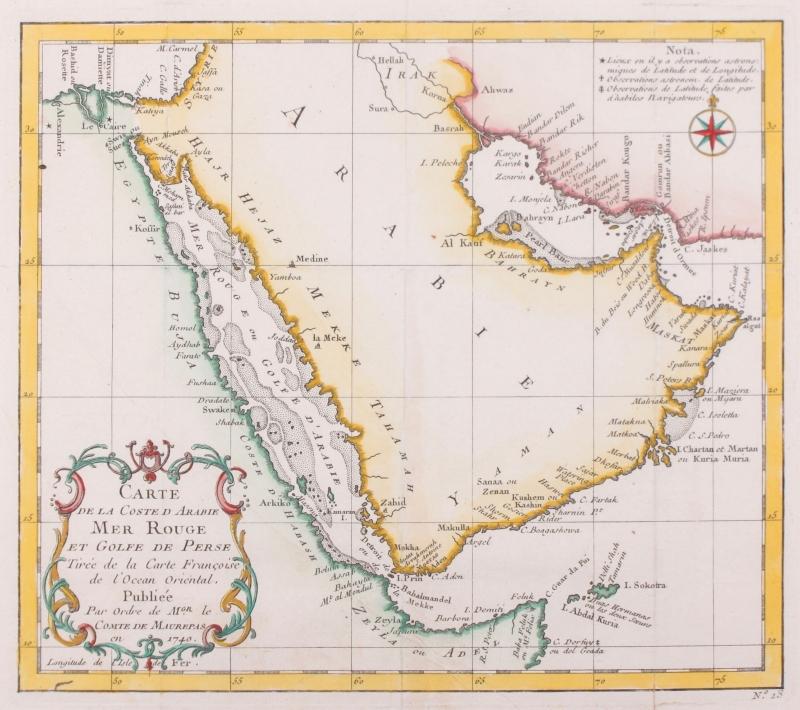 Kaart Perzische Golf.