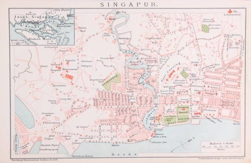 Plattegrond Singapore