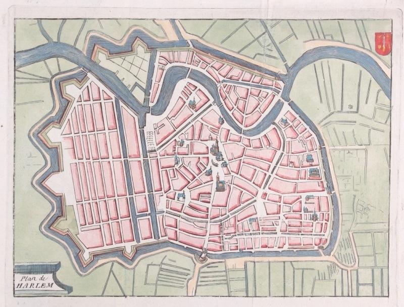 Plattegrond Haarlem Haarlem Prenten Antiquariaat Delfshaven